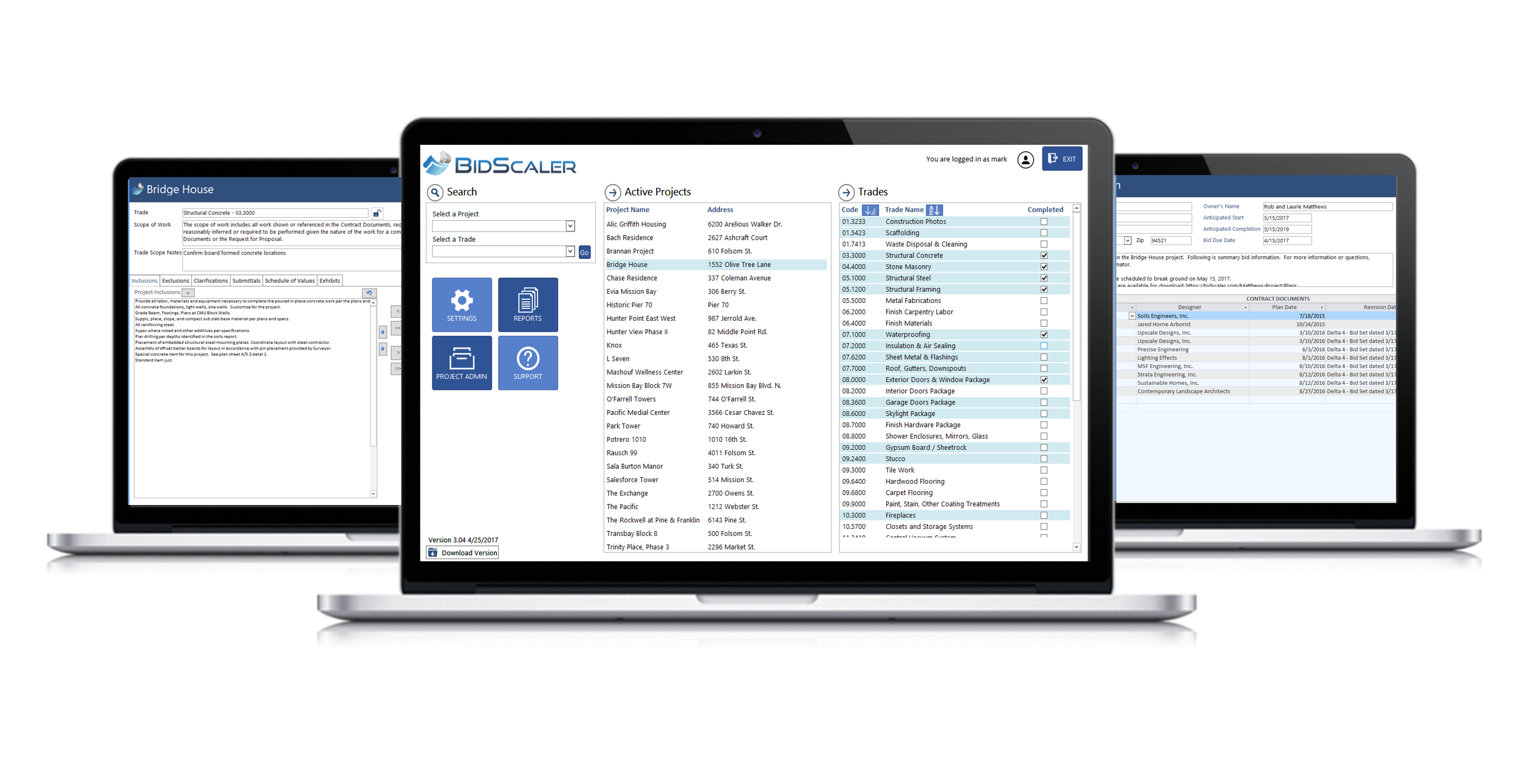 BidScaler bid instruction scope of work software