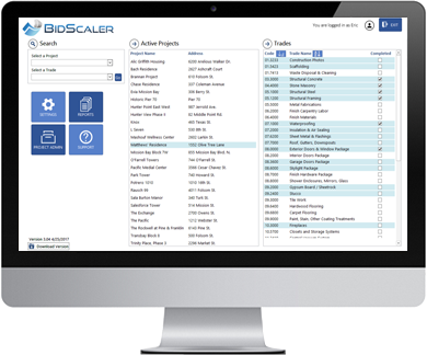 control your scopes of work with BidScaler bid and work instruction software